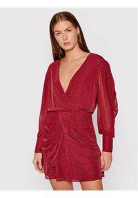 IRO Sukienka koktajlowa Breja BUR12 Czerwony Regular Fit. Kolor: czerwony. Styl: wizytowy