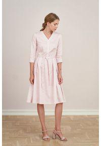 Marie Zélie - Sukienka Alodia Idella. Materiał: bawełna, satyna, skóra, materiał. Długość rękawa: krótki rękaw