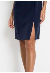 Sukienka ołówkowa bonprix ciemnoniebiesko-biały. Kolor: niebieski. Typ sukienki: ołówkowe