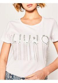 Biały t-shirt Liu Jo Sport sportowy