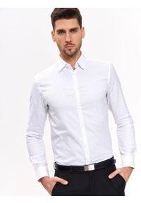 Biała koszula TOP SECRET na co dzień, długa