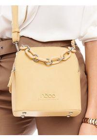 Żółta torebka Nobo elegancka, skórzana
