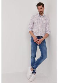 Biała koszula Pepe Jeans z długim rękawem, klasyczna, z klasycznym kołnierzykiem, długa