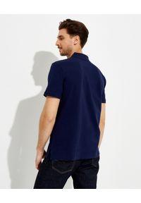 Ralph Lauren - RALPH LAUREN - Granatowa koszulka z misiem Custom Slim Fit. Typ kołnierza: polo. Kolor: niebieski. Materiał: bawełna, prążkowany. Wzór: haft #3