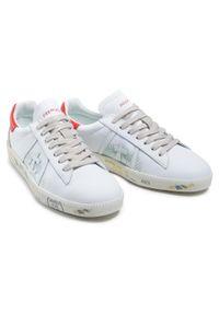 Białe sneakersy Premiata na co dzień, z cholewką