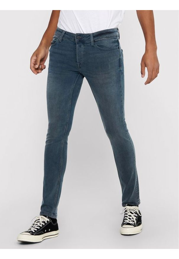 Only & Sons - ONLY & SONS Jeansy Loom 22017090 Szary Slim Fit. Kolor: szary