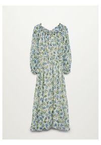 mango - Mango Sukienka codzienna Ocean 87025723 Kolorowy Regular Fit. Okazja: na co dzień. Wzór: kolorowy. Typ sukienki: proste. Styl: casual