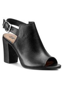 Czarne sandały Nessi na co dzień, casualowe