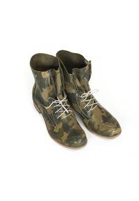 Zapato - botki - skóra naturalna - model 461 - kolor moro. Materiał: skóra. Wzór: moro