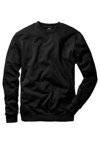 Bluza bonprix czarny. Kolor: czarny. Styl: sportowy