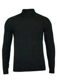 Czarny sweter Brave Soul elegancki, z golfem, na jesień