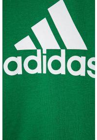 Zielona bluza Adidas casualowa, na co dzień, z nadrukiem