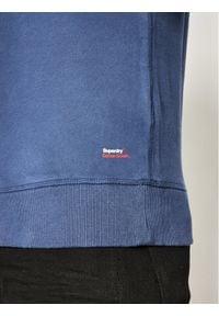 Superdry Bluza VL Camo Crew M2000129A Granatowy Regular Fit. Kolor: niebieski