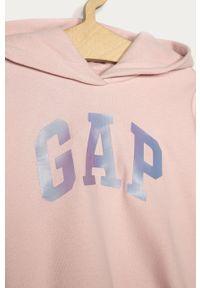 Różowa bluza GAP z kapturem, z nadrukiem