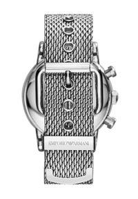 Srebrny zegarek Emporio Armani