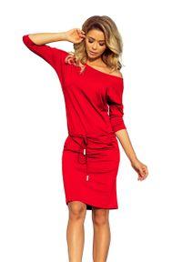 Czerwona sukienka Numoco sportowa, sportowa