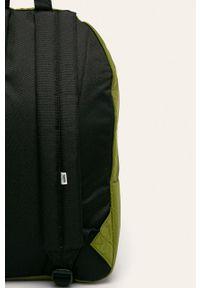 Vans - Plecak. Kolor: oliwkowy. Materiał: materiał, nylon, poliester. Wzór: aplikacja, paski #4