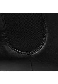 Czarne botki HÖGL na obcasie, na średnim obcasie