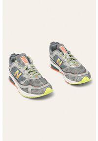 Szare sneakersy New Balance z cholewką, z okrągłym noskiem