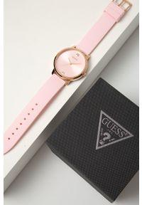 Guess Jeans - Zegarek W1210L3. Kolor: różowy. Materiał: jeans