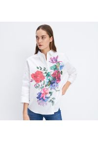 Biała koszula Mohito w kwiaty