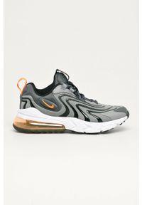 Szare buty sportowe Nike Kids na sznurówki, Nike Air Max, z cholewką