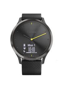 Czarny zegarek GARMIN cyfrowy, sportowy