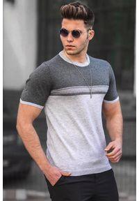 Wielokolorowy t-shirt IVET casualowy, na co dzień