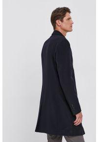 BOSS - Boss - Płaszcz. Okazja: na co dzień. Kolor: niebieski. Styl: casual
