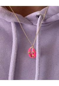 BONK IBIZA - Różowy naszyjnik Maca. Materiał: srebrne, pozłacane. Kolor: różowy, fioletowy, wielokolorowy