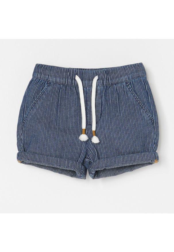 Niebieskie spodnie Reserved w prążki