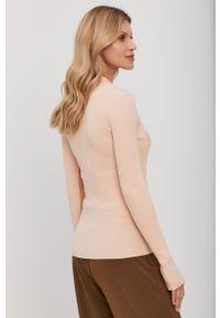 Sweter Patrizia Pepe gładki, klasyczny, krótki, z długim rękawem