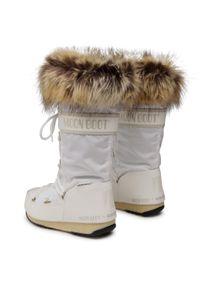 Białe śniegowce Moon Boot z cholewką, na zimę