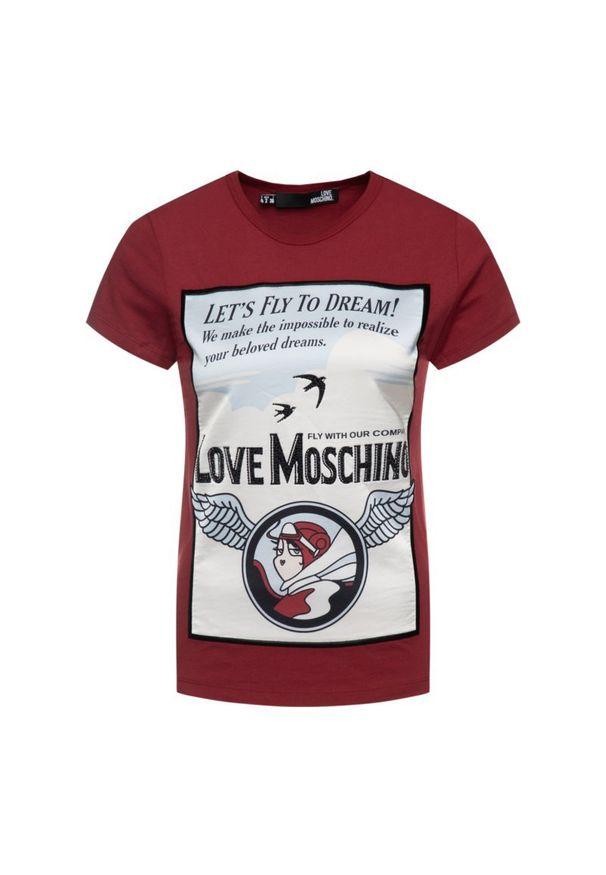 Czerwony t-shirt Love Moschino