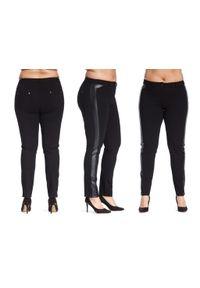 Spodnie Moda Size Plus Iwanek na co dzień, casualowe, krótkie, z aplikacjami