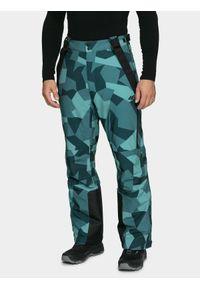 4f - Spodnie narciarskie męskie. Kolor: wielokolorowy. Materiał: materiał. Sezon: zima. Sport: narciarstwo