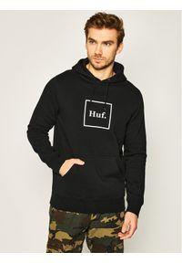 HUF Bluza Box Logo PF00098 Czarny Regular Fit. Kolor: czarny