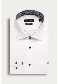 Biała koszula Tommy Hilfiger Tailored długa, z klasycznym kołnierzykiem, klasyczna, z długim rękawem