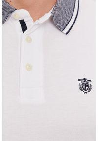 Biała koszulka polo Selected polo, casualowa, gładkie