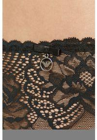 Czarne majtki Emporio Armani w koronkowe wzory