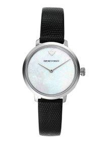 Emporio Armani - Zegarek AR11159. Kolor: czarny. Materiał: skóra, materiał