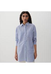 Niebieska koszula Reserved w paski