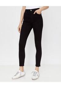 Czarne spodnie długie, z nadrukiem
