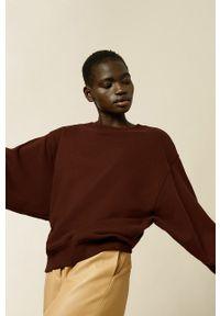 IVY & OAK - Bluza bawełniana Karen. Kolor: pomarańczowy. Materiał: bawełna. Długość rękawa: długi rękaw. Długość: długie