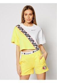 Champion T-Shirt Croptop 112767 Żółty Custom Fit. Kolor: żółty