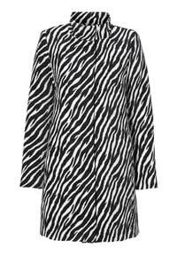 Cellbes Płaszcz zebra female 42/44. Typ kołnierza: kołnierzyk stójkowy. Wzór: motyw zwierzęcy. Styl: elegancki