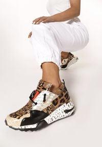 Born2be - Brązowe Sneakersy Livesey. Kolor: brązowy
