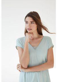 Women Secret - women´secret - Piżama. Kolor: zielony. Materiał: koronka. Długość: krótkie