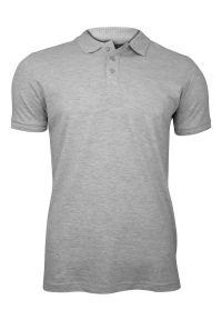 Szary t-shirt Brave Soul casualowy, polo