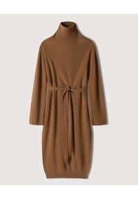 NANUSHKA - Sukienka midi z golfem Canaan. Typ kołnierza: golf. Kolor: brązowy. Materiał: dzianina, materiał, prążkowany. Typ sukienki: oversize. Długość: midi